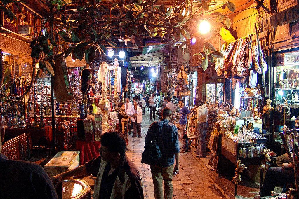 Khan El-Khalili Basar in Kairo
